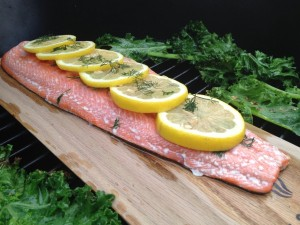 Red Oak Planked Salmon