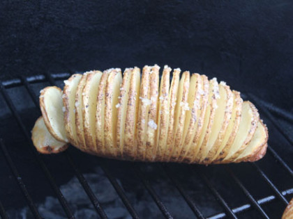 Hasselback Potatoes on the BGE