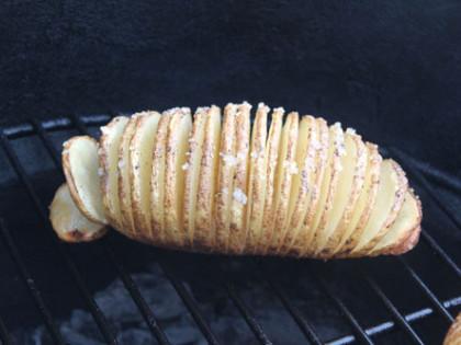 Hasselback Potatoes on the BGE