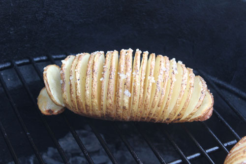 Hasselback Potatoes on the Big Green Egg