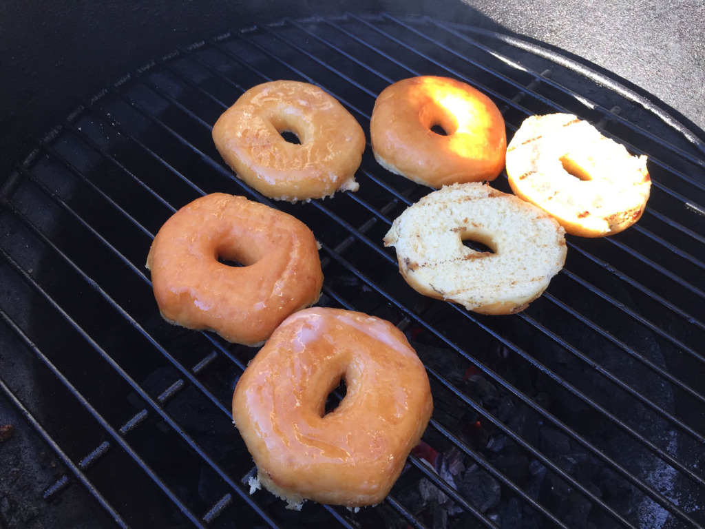 Grilling Donuts