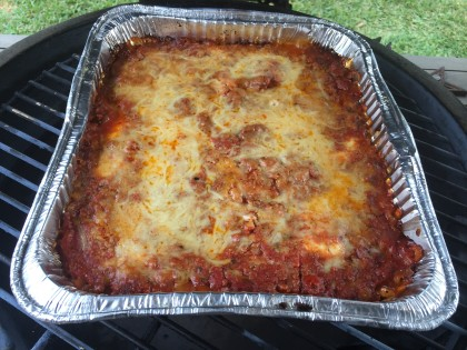 Lasagna on the Big Green Egg